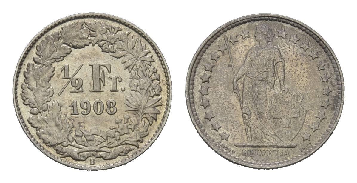 CH 1/2 Franken 1908 B