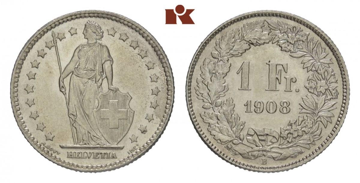 CH 1 Franken 1908 B