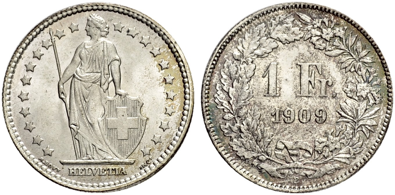 CH 1 Franken 1909 B