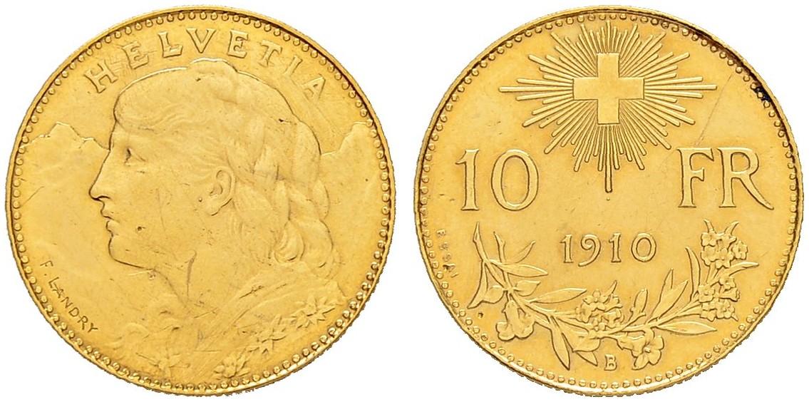 CH 10 Franken 1910 B