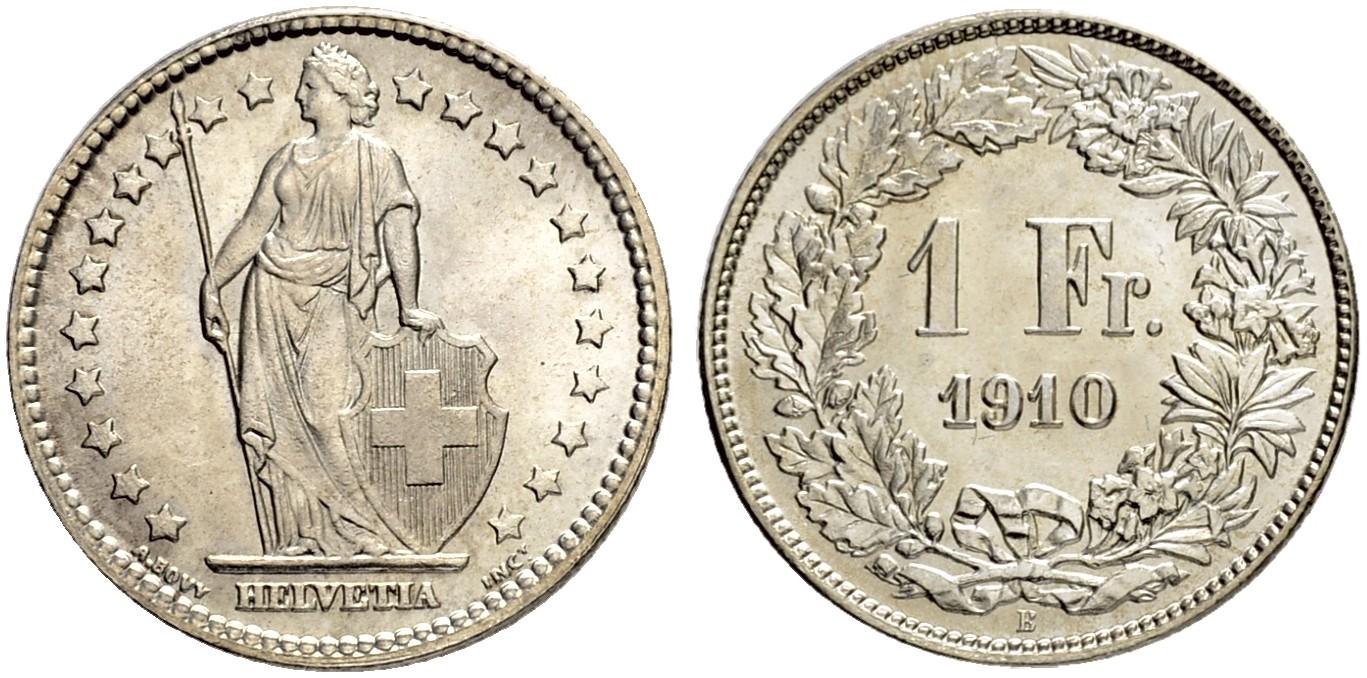 CH 1 Franken 1910 B