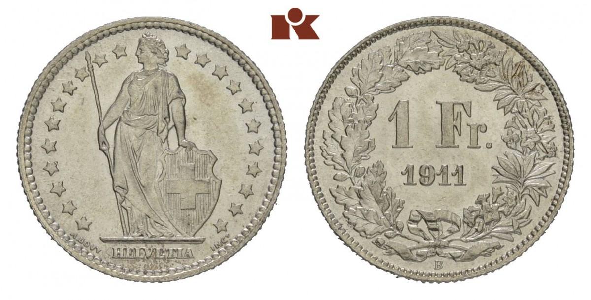 CH 1 Franken 1911 B
