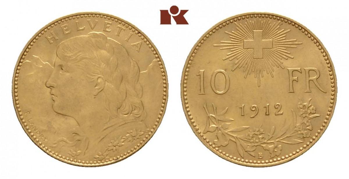 CH 10 Franken 1912 B