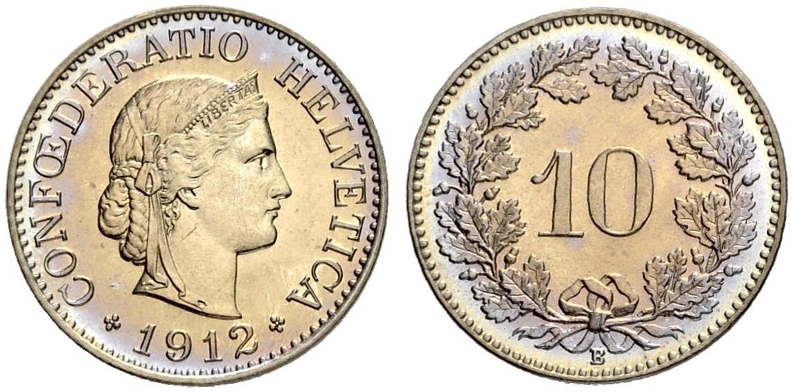 CH 10 Rappen 1912 B