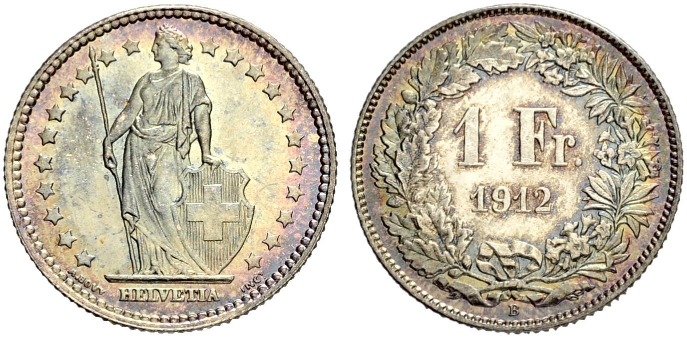 CH 1 Franken 1912 B
