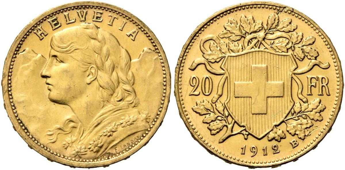 CH 20 Franken 1912 B