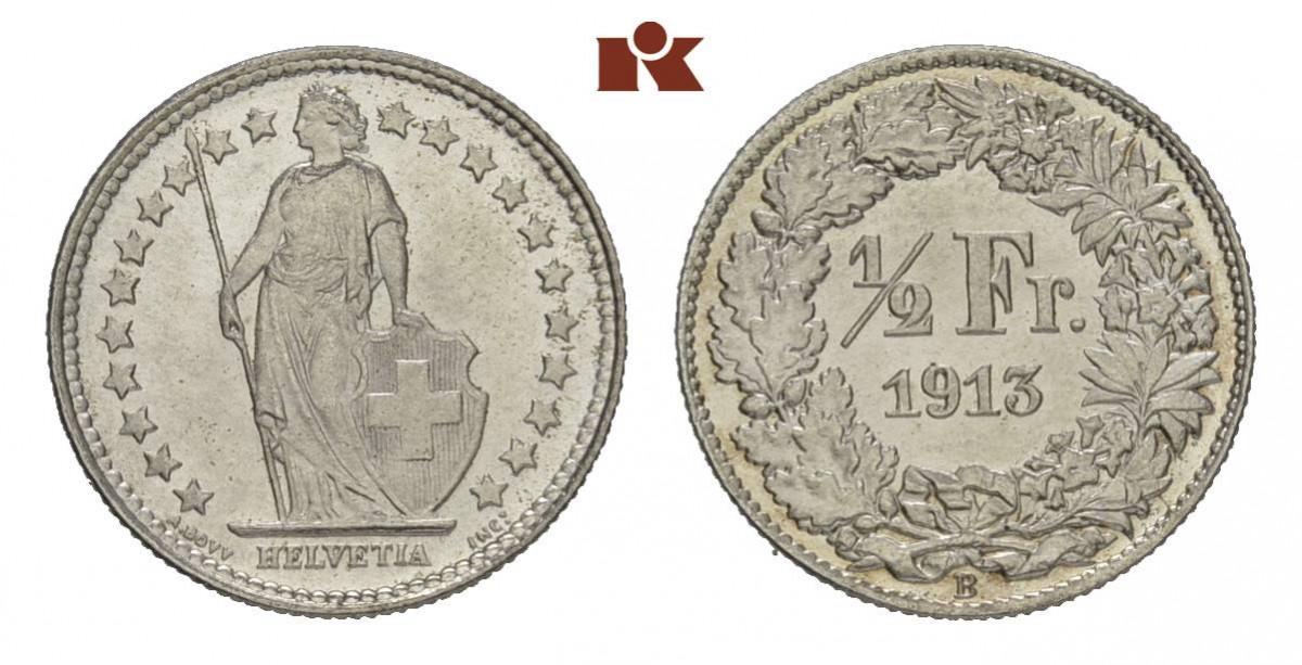 CH 1/2 Franken 1913 B