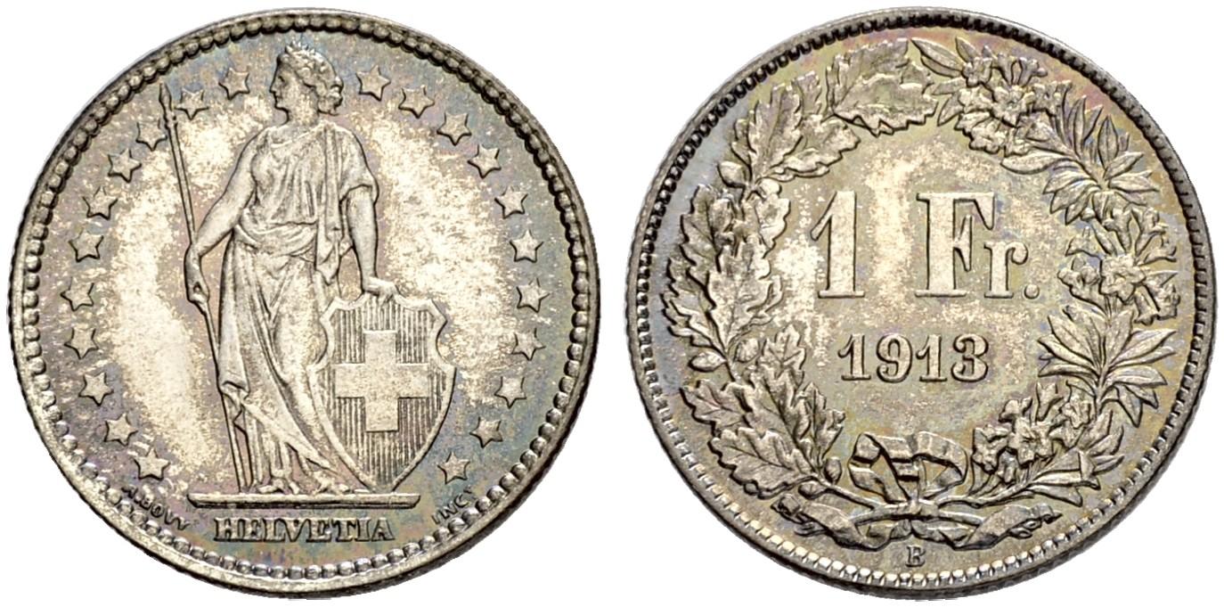 CH 1 Franken 1913 B