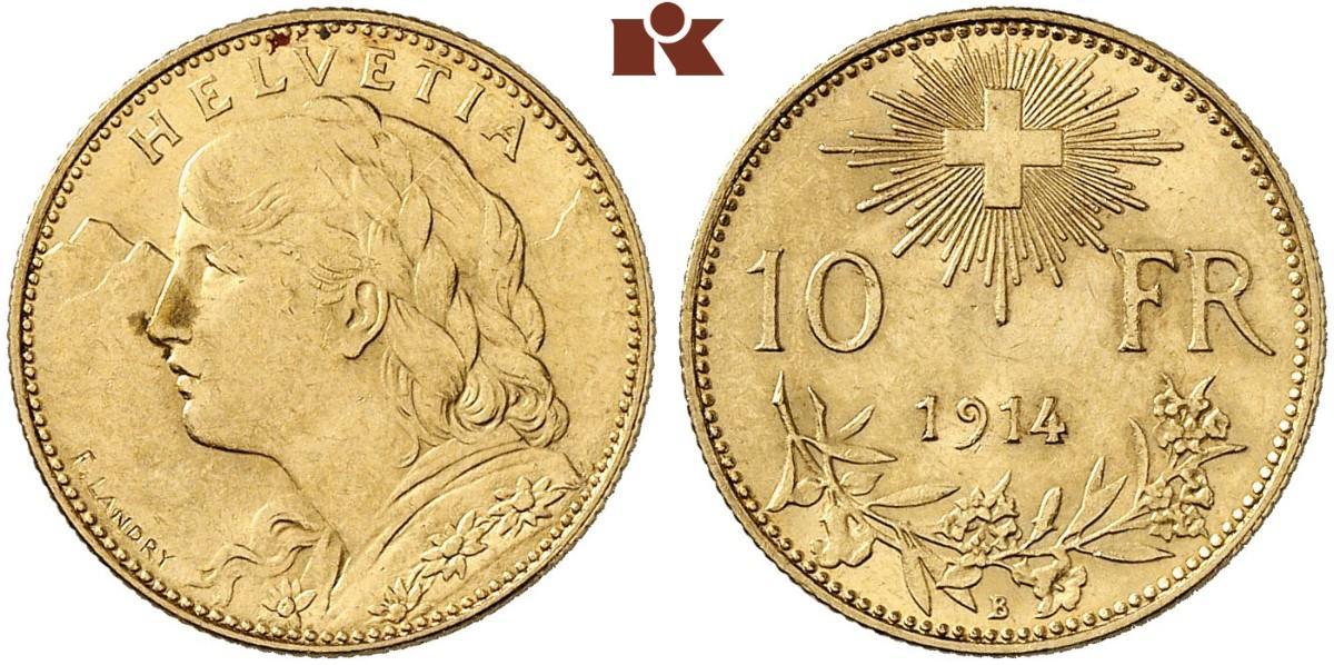 CH 10 Franken 1914 B