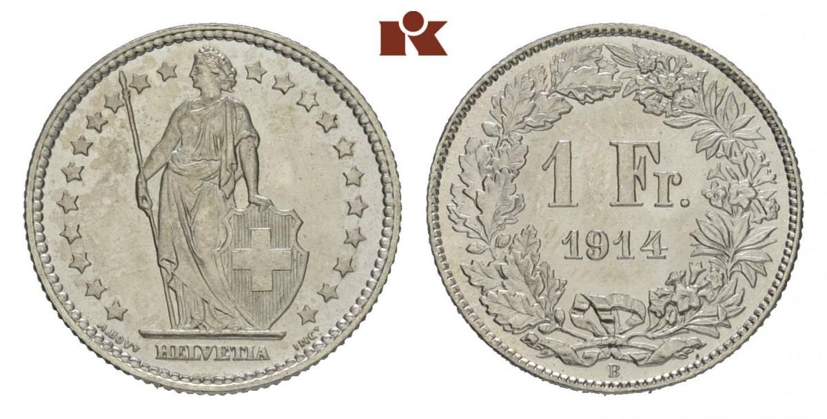 CH 1 Franken 1914 B