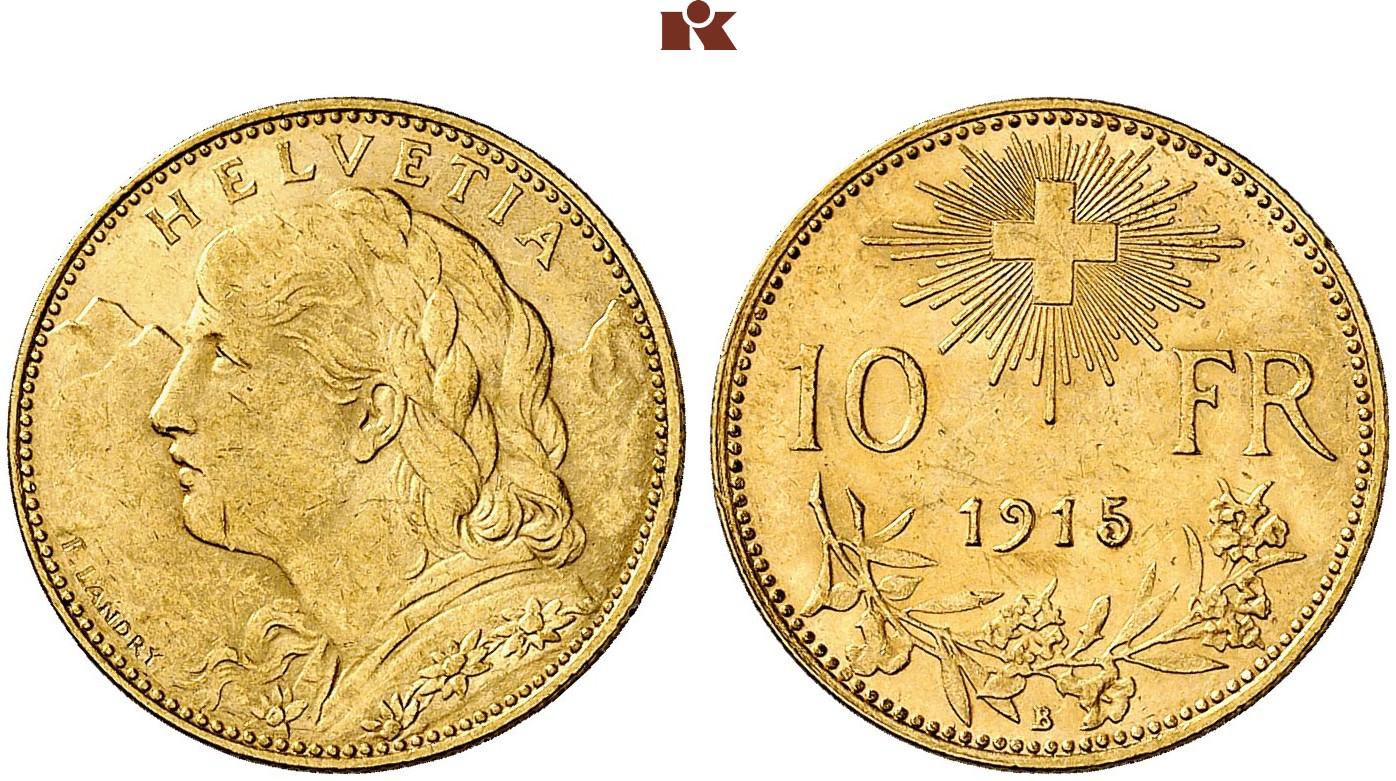 CH 10 Franken 1915 B