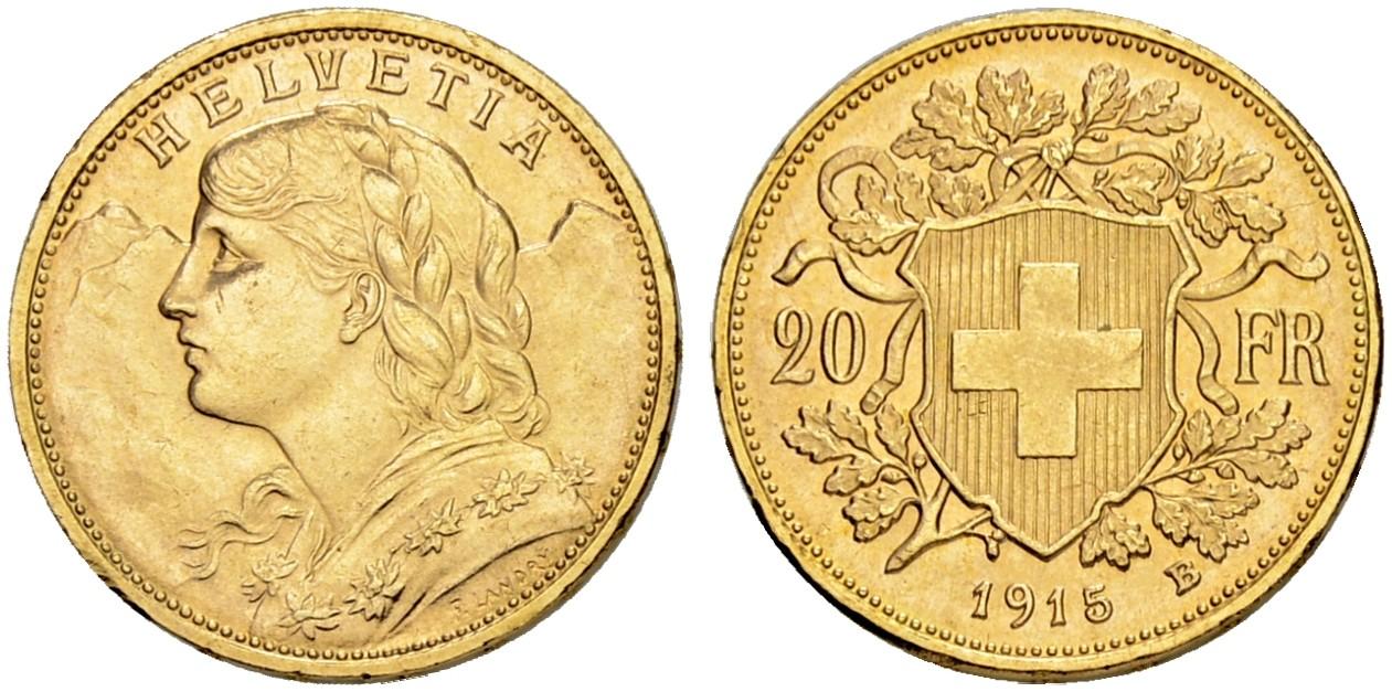 CH 20 Franken 1915 B