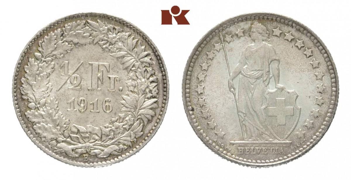 CH 1/2 Franken 1916 B