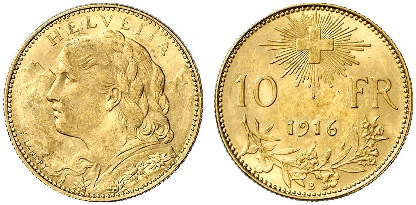 CH 10 Franken 1916 B