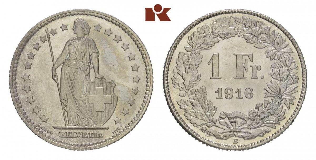 CH 1 Franken 1916 B