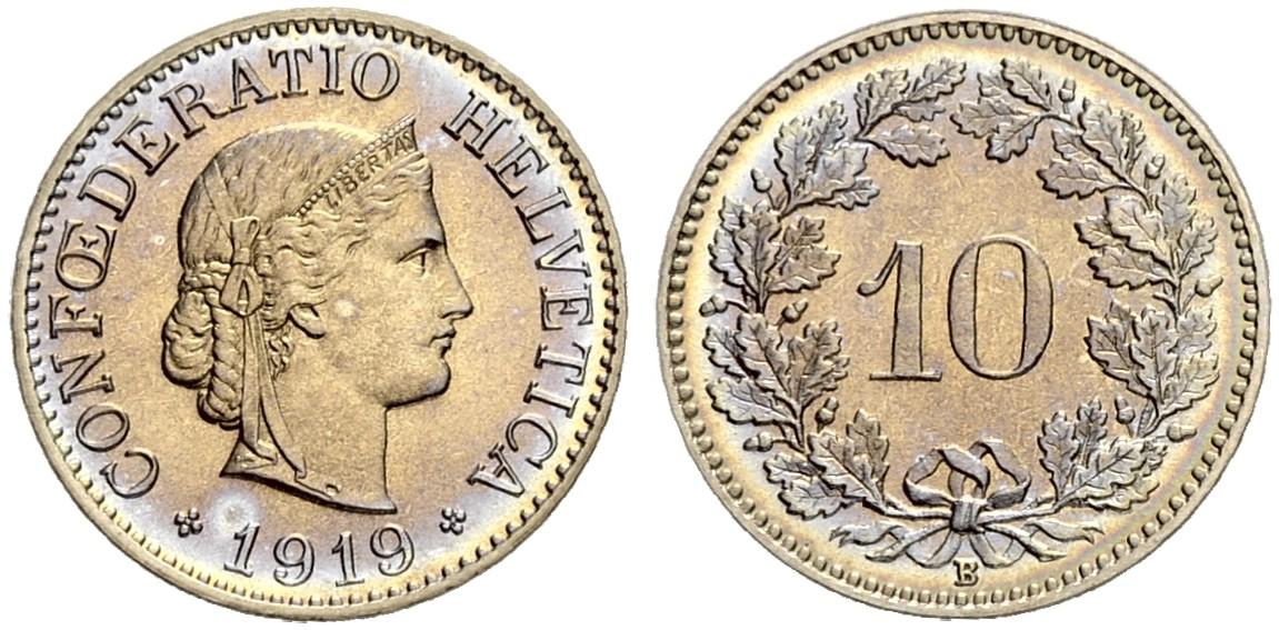 CH 10 Rappen 1919 B