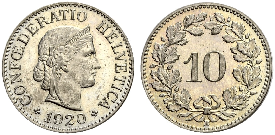 CH 10 Rappen 1920 B