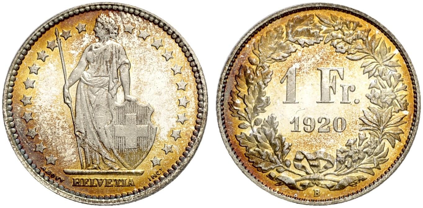 CH 1 Franken 1920 B
