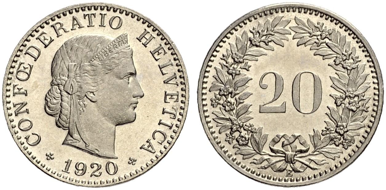 CH 20 Rappen 1920 B