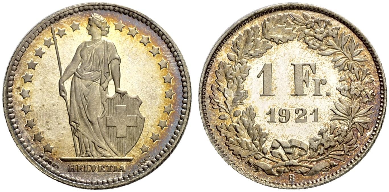 CH 1 Franken 1921 B