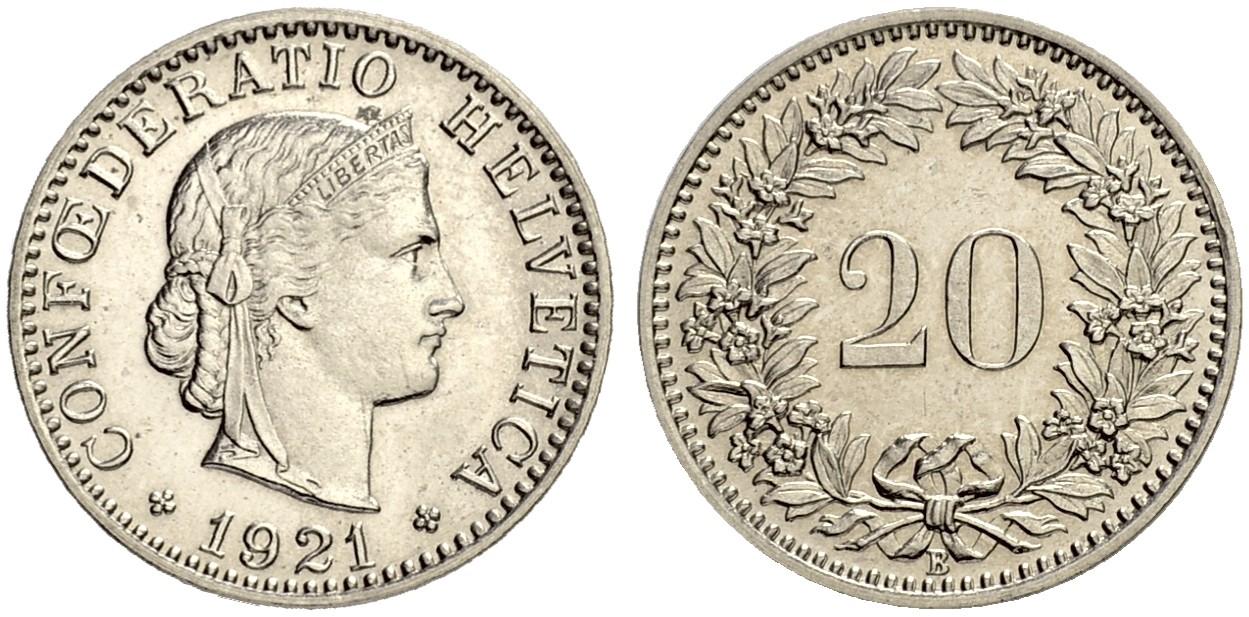 CH 20 Rappen 1921 B
