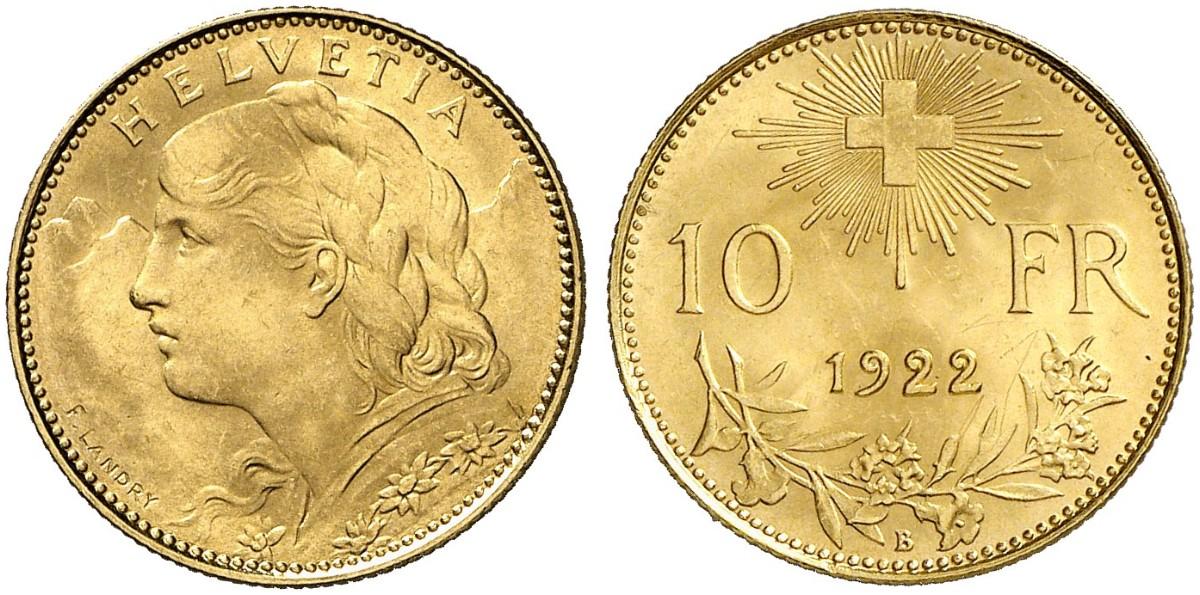 CH 10 Franken 1922 B