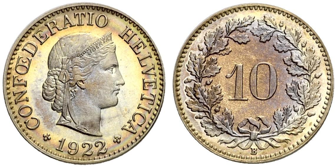 CH 10 Rappen 1922 B