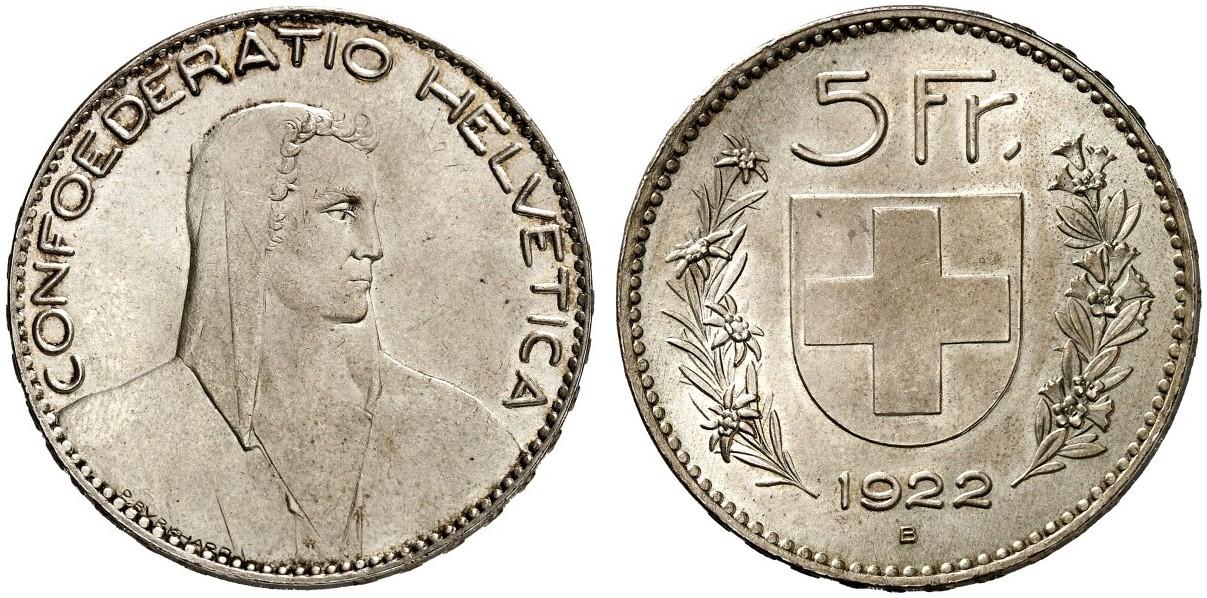 CH 5 Franken 1922 B