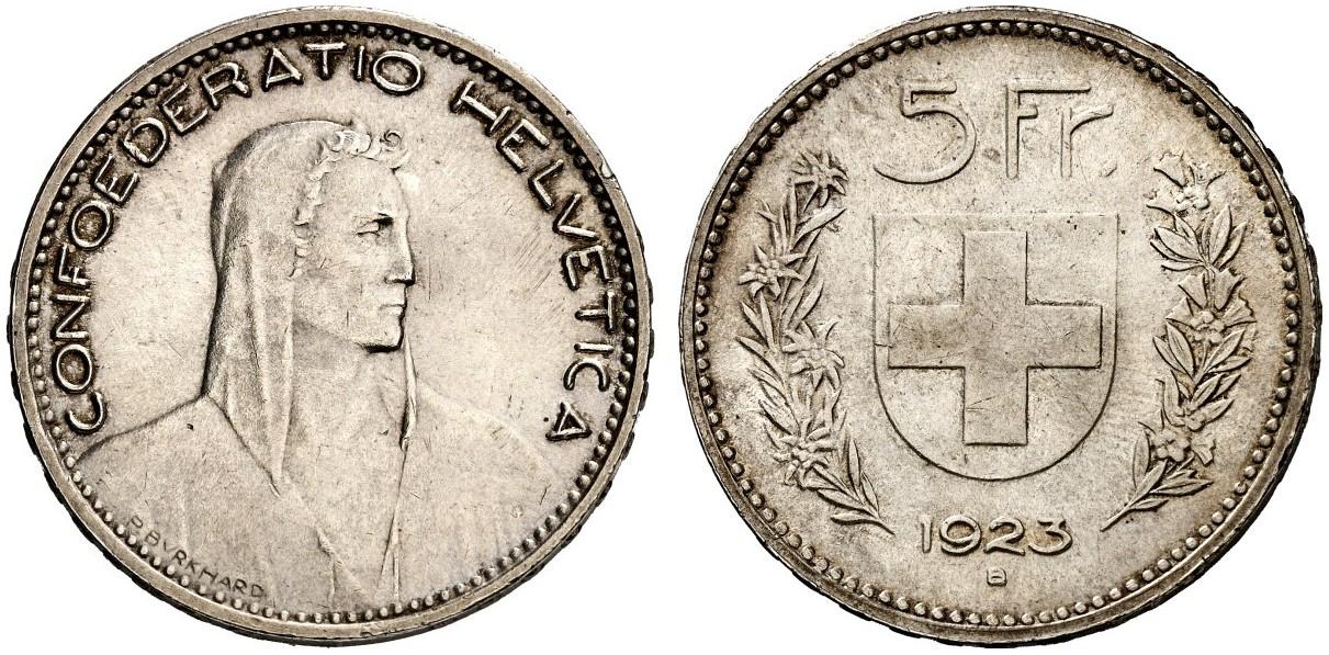 CH 5 Franken 1923 B