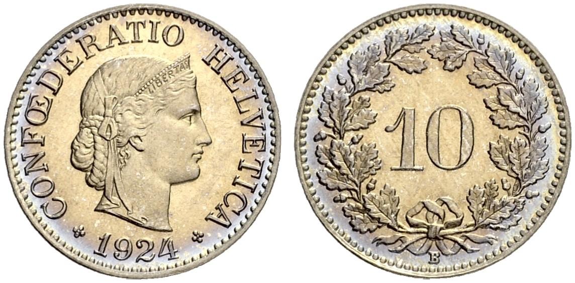 CH 10 Rappen 1924 B