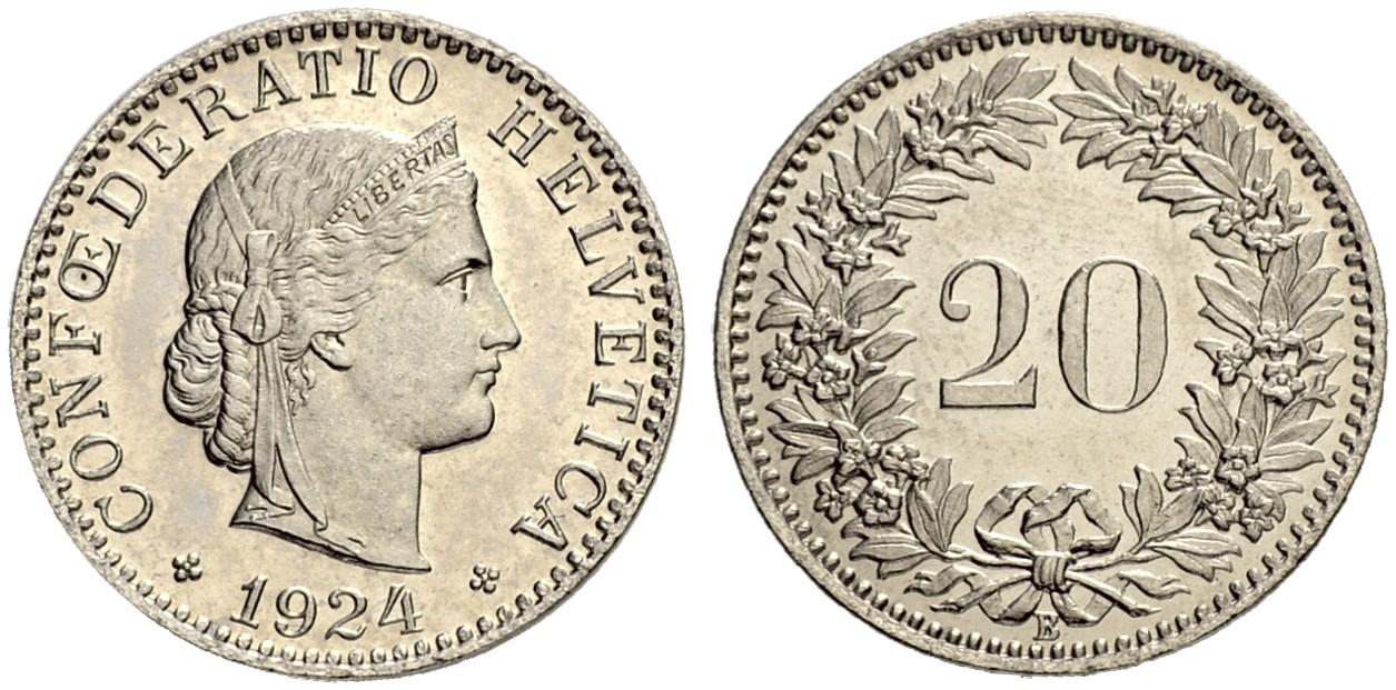 CH 20 Rappen 1924 B