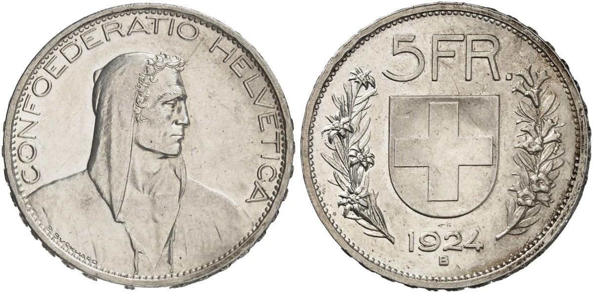 CH 5 Franken 1924 B