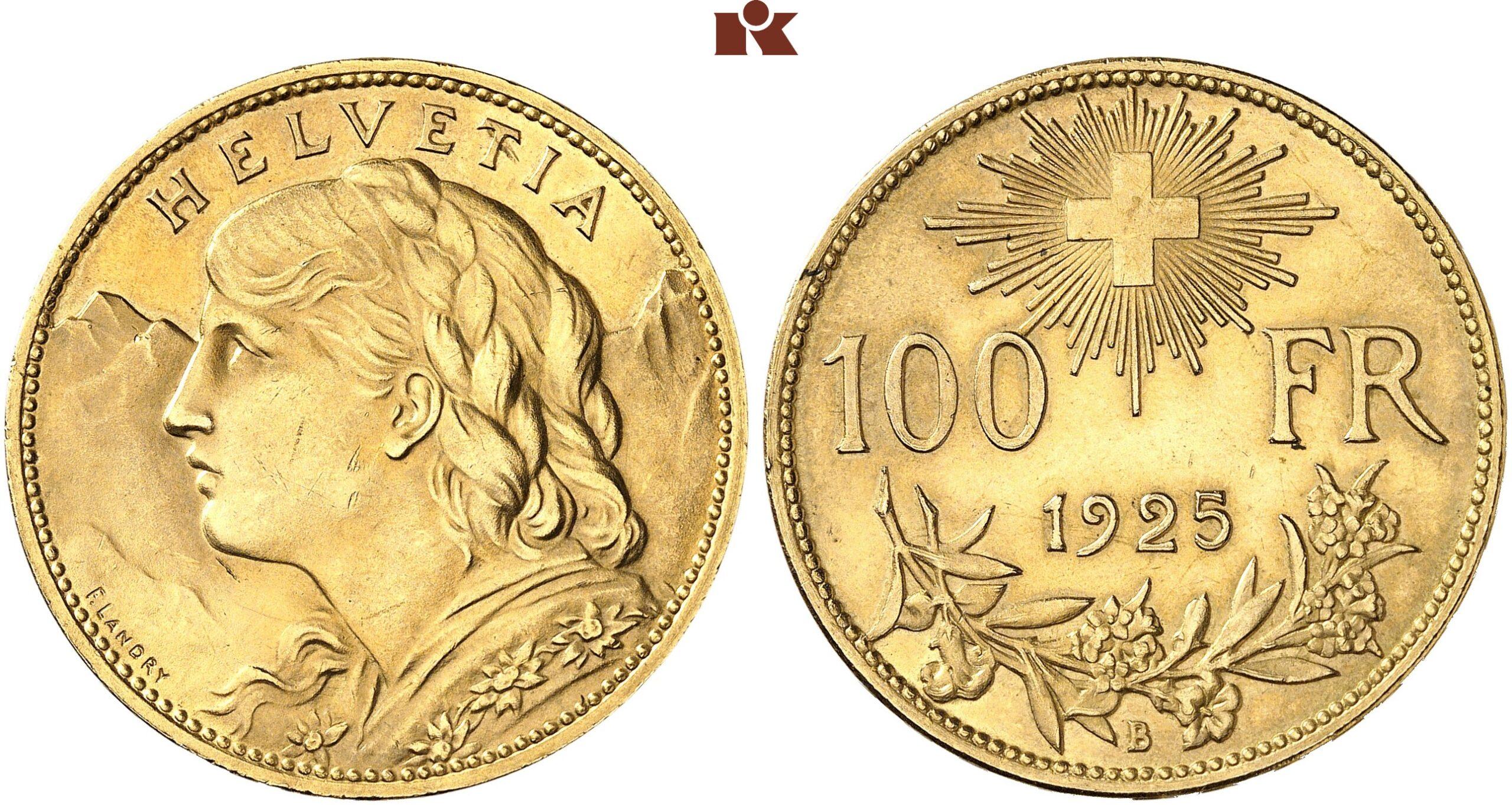 CH 100 Franken 1925 B