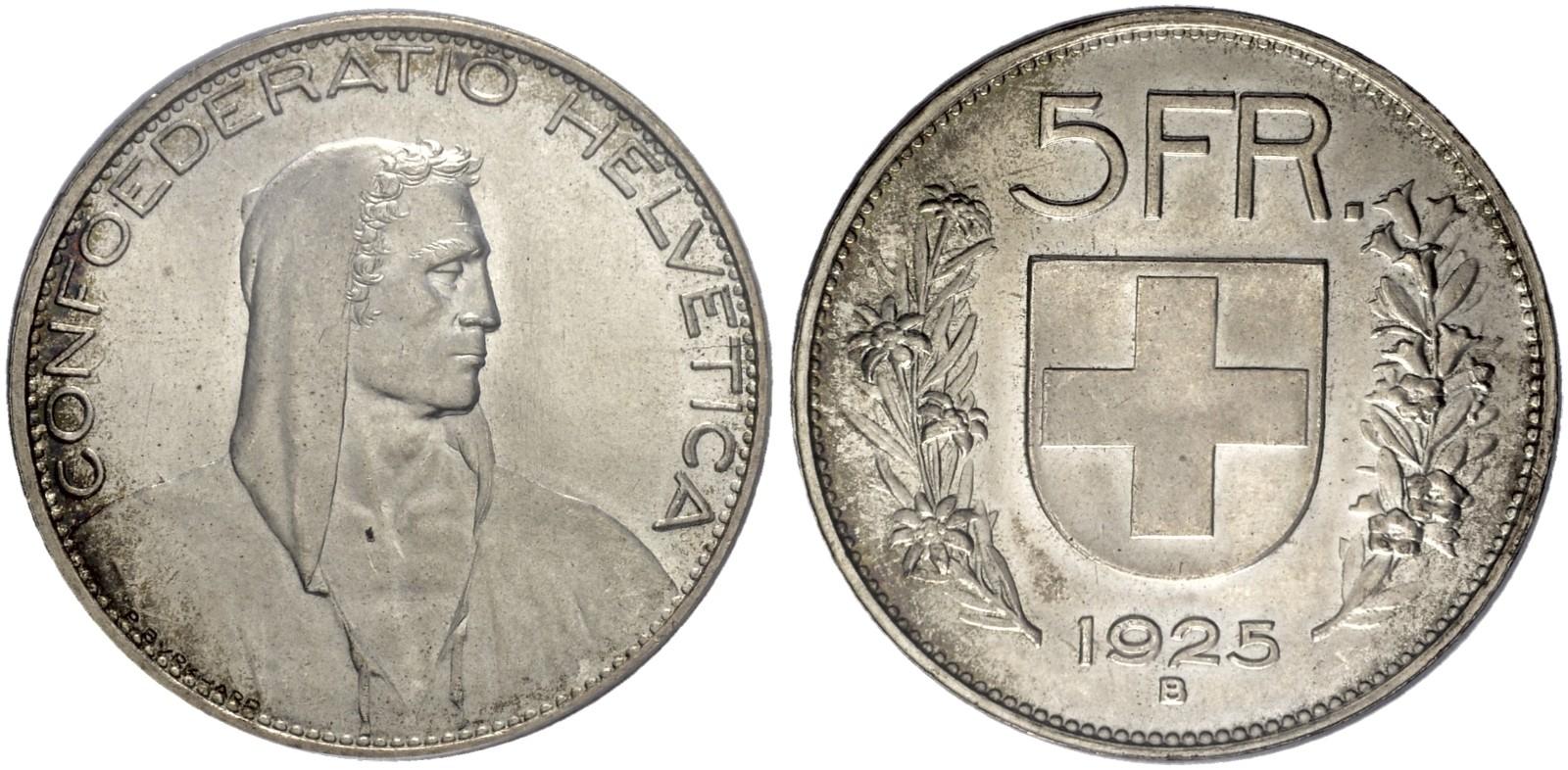 CH 5 Franken 1925 B