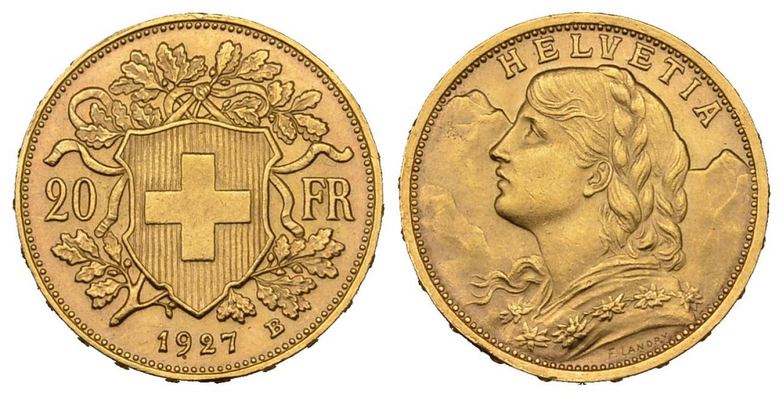 CH 20 Franken 1927 B