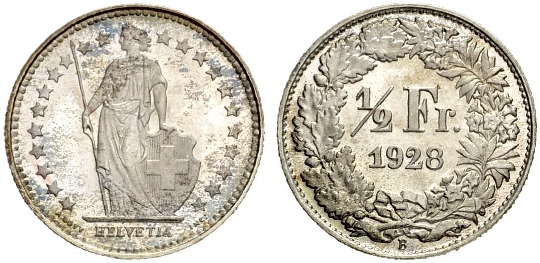 CH 1/2 Franken 1928 B