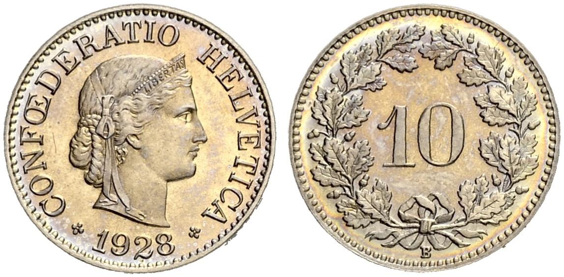 CH 10 Rappen 1928 B