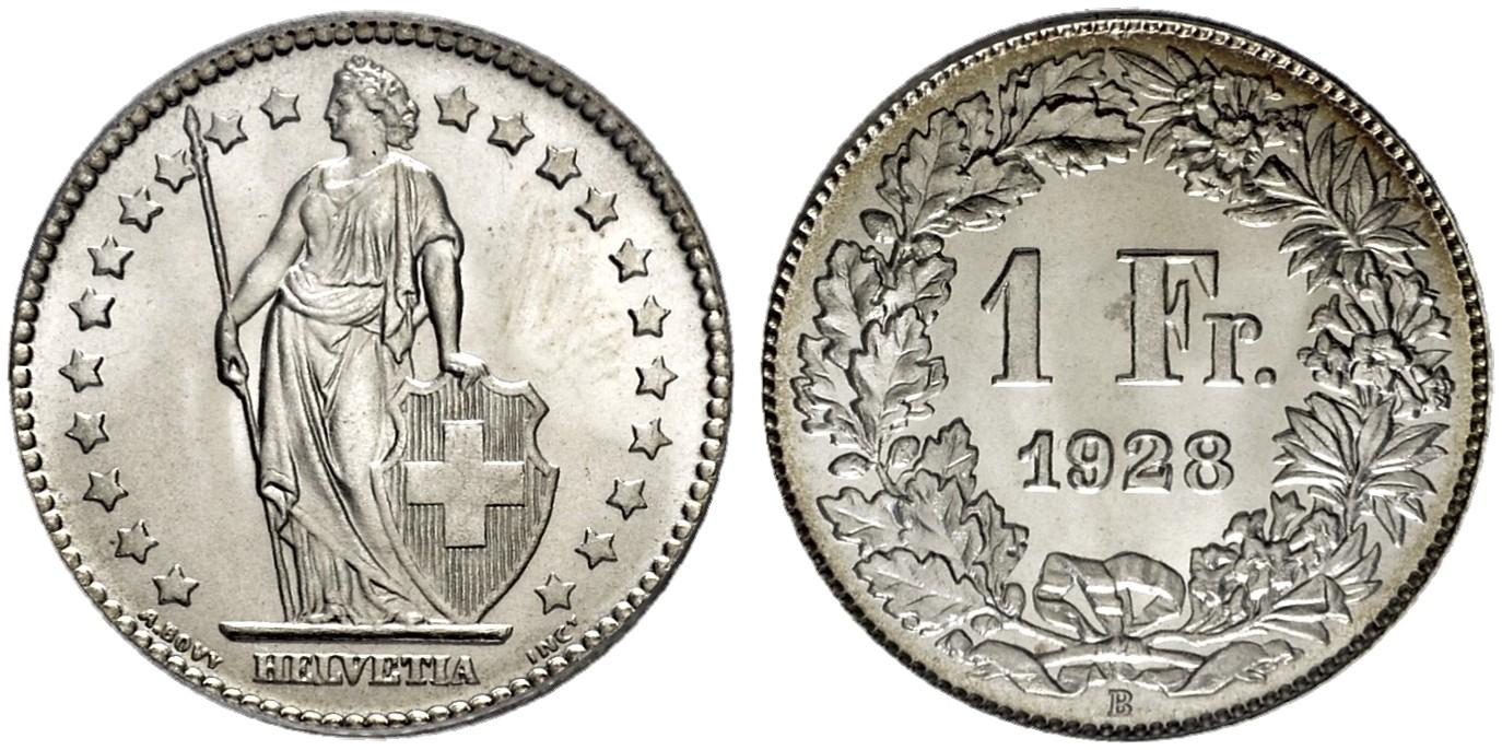 CH 1 Franken 1928 B