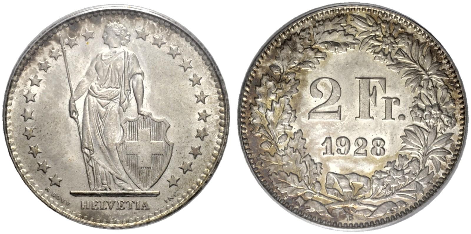 CH 2 Franken 1928 B