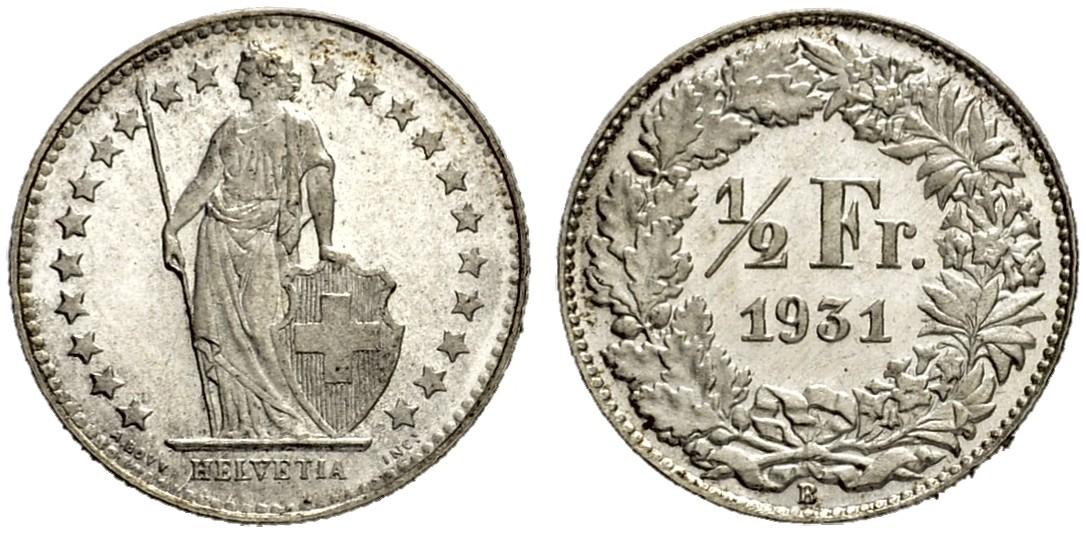 CH 1/2 Franken 1931 B