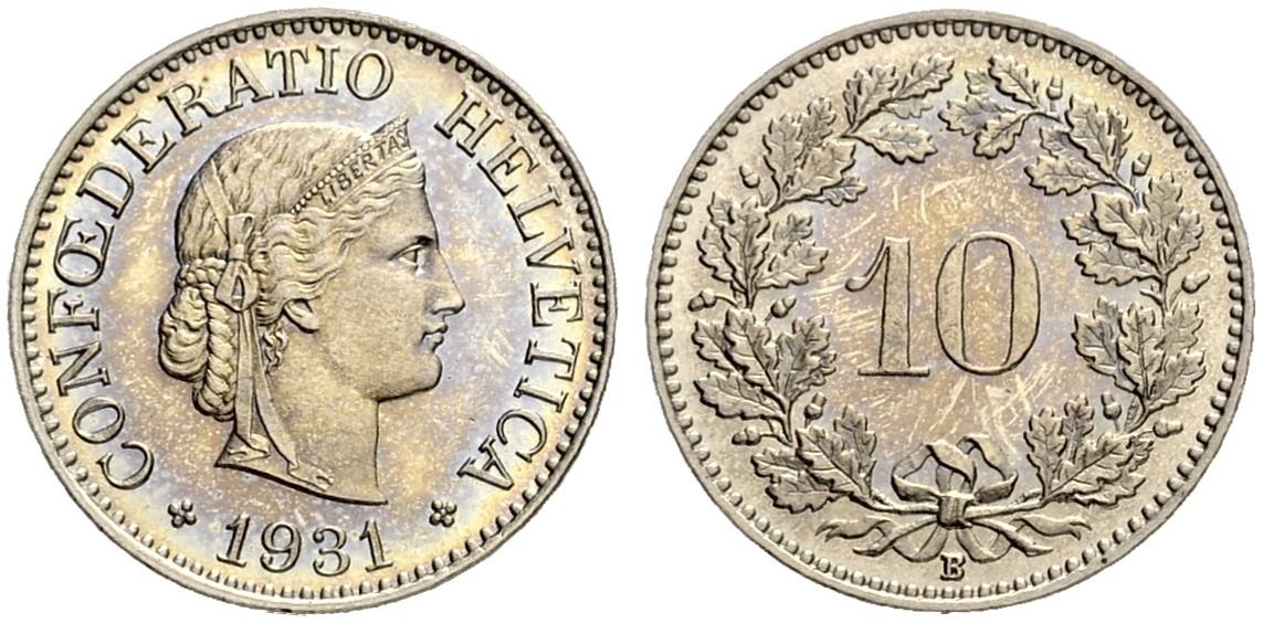 CH 10 Rappen 1931 B