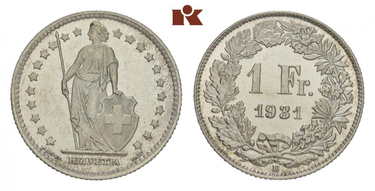 CH 1 Franken 1931 B
