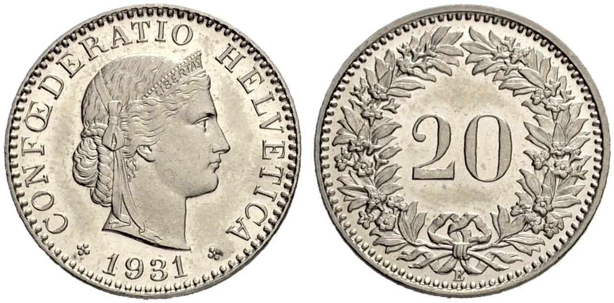 CH 20 Rappen 1931 B