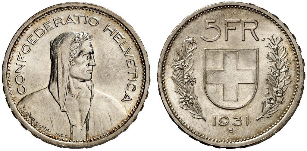 CH 5 Franken 1931 B