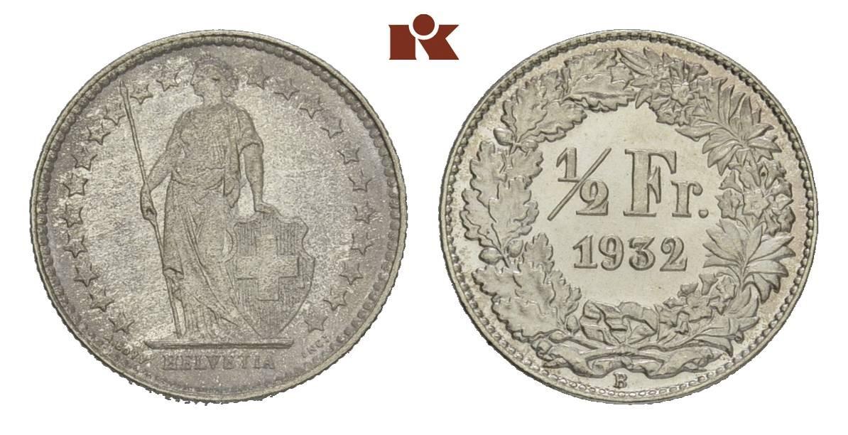 CH 1/2 Franken 1932 B