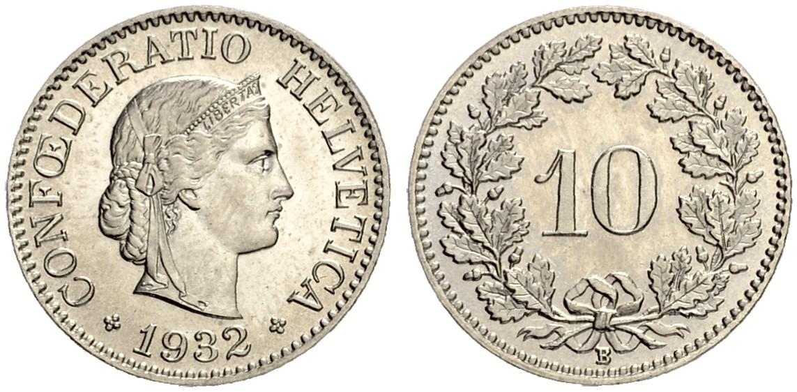 CH 10 Rappen 1932 B