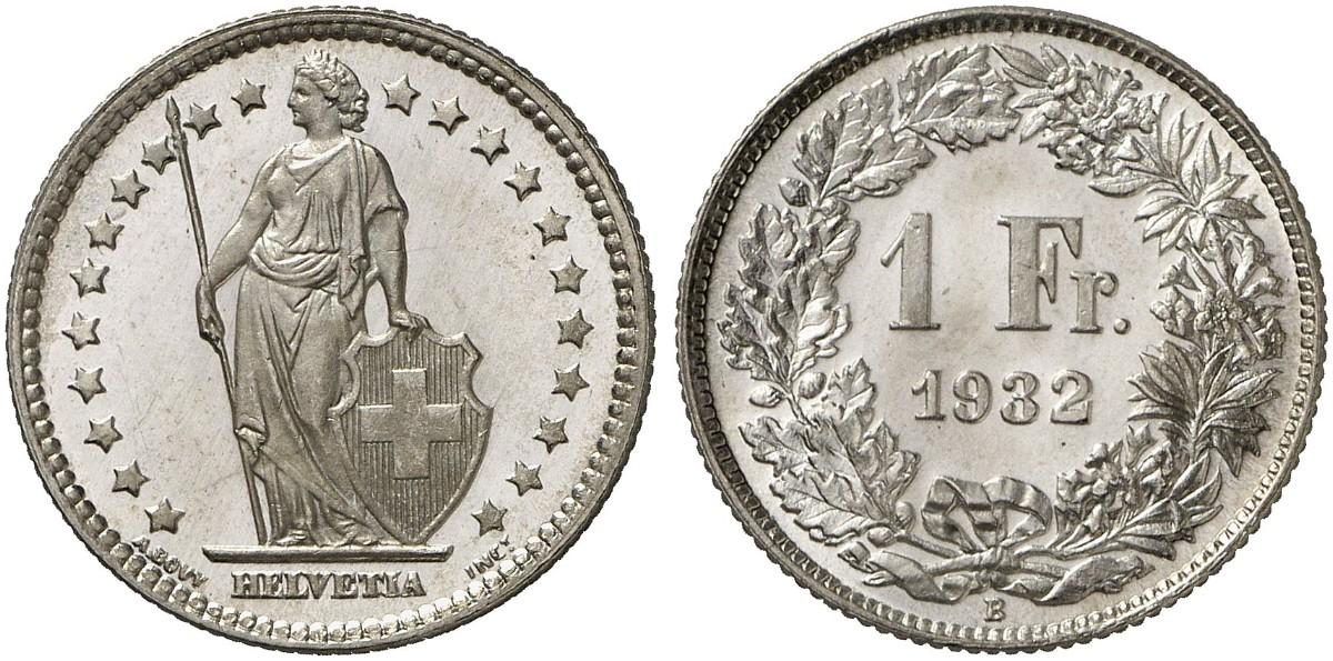 CH 1 Franken 1932 B