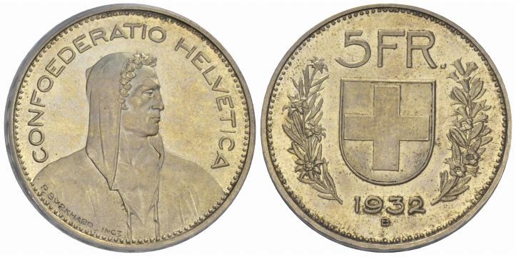 CH 5 Franken 1932 B