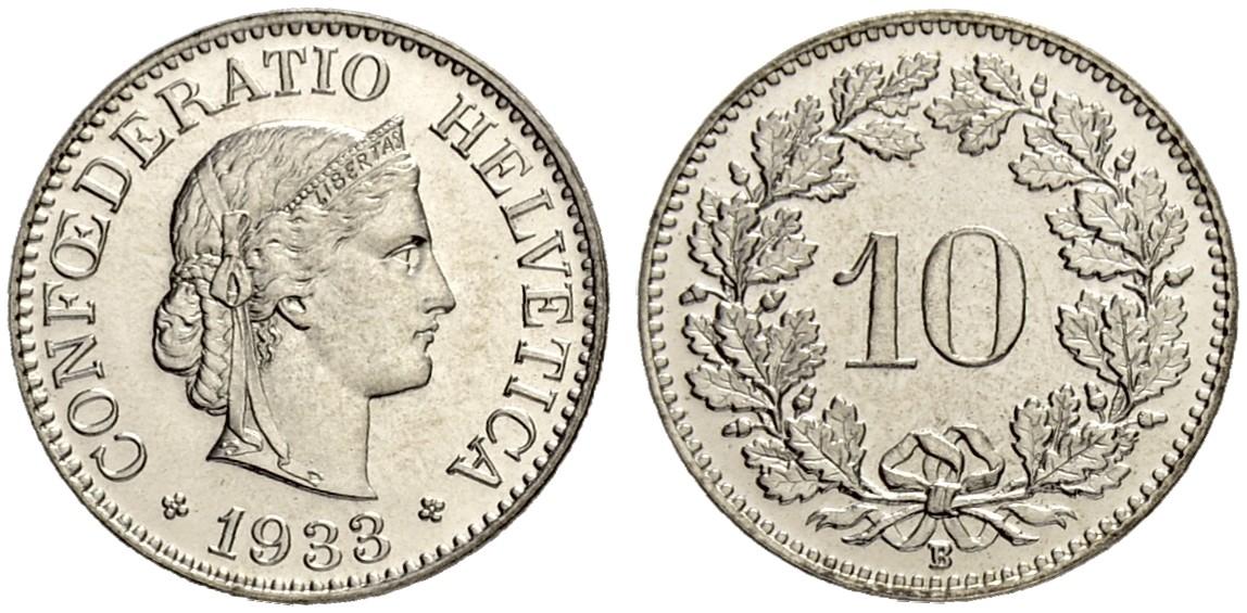 CH 10 Rappen 1933 B