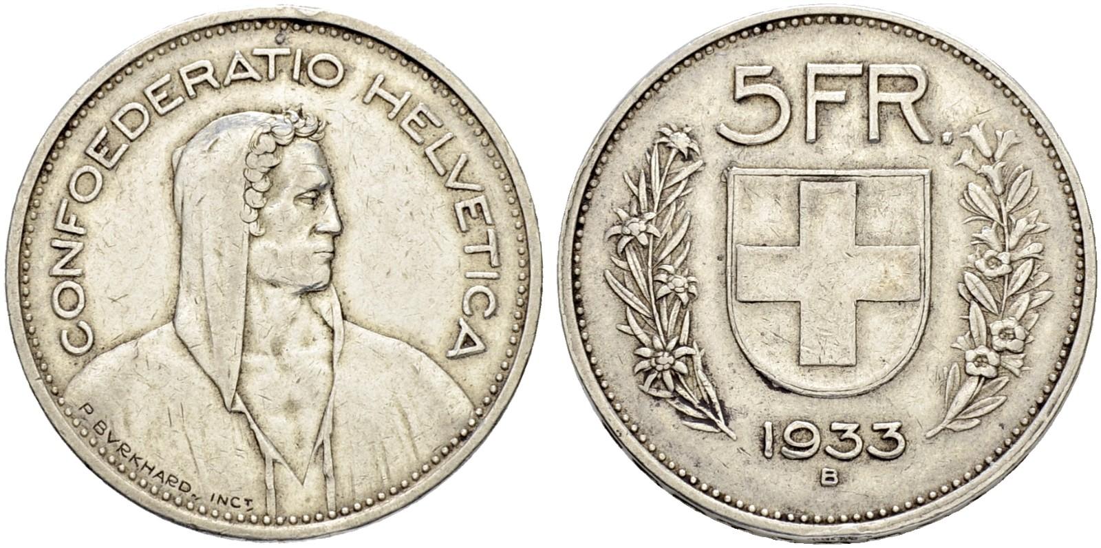 CH 5 Franken 1933 B